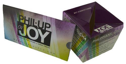 Pop-up-wuerfel bedruckt als Werbeartikel
