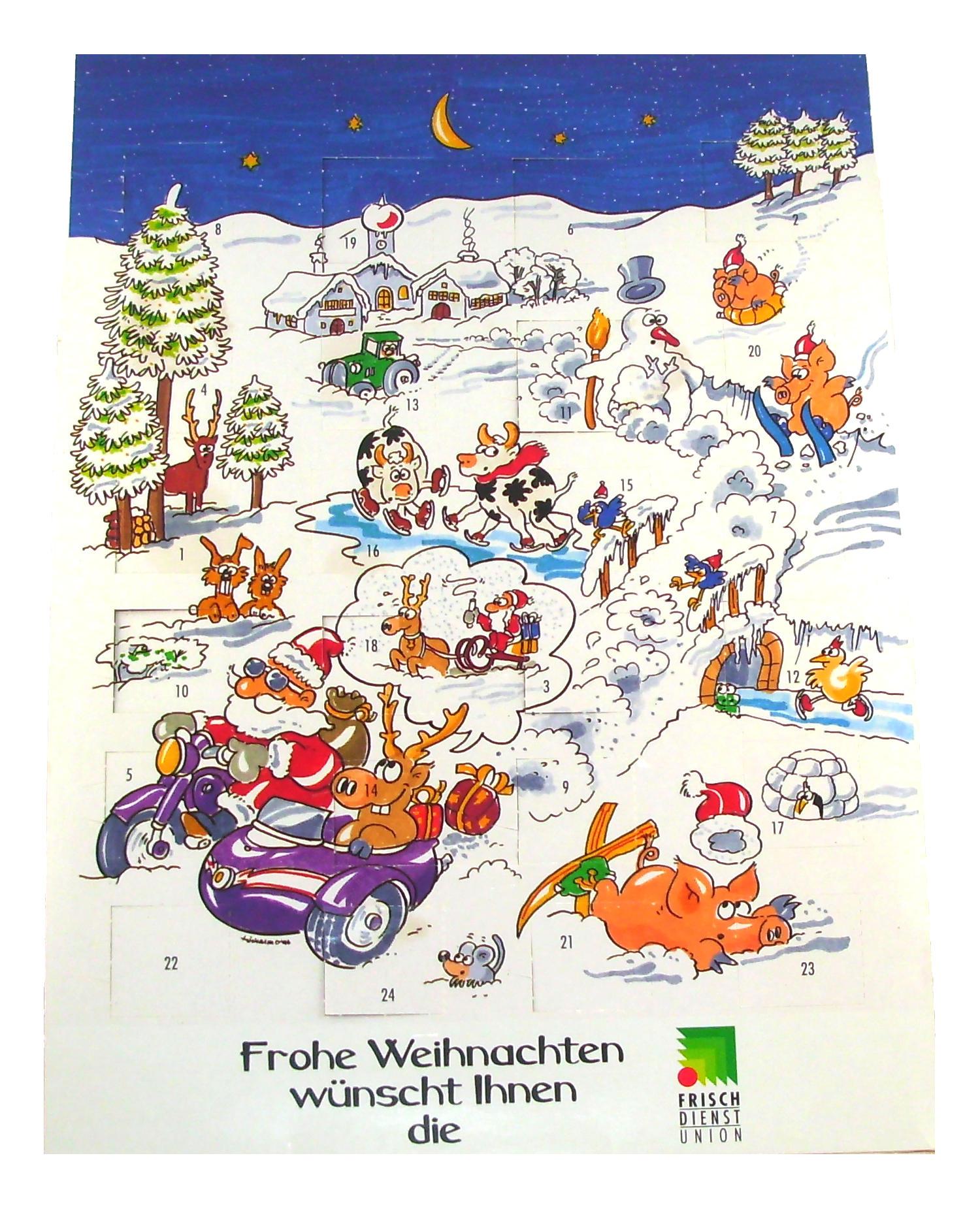 Weihnachten Adventskalender bedrucken